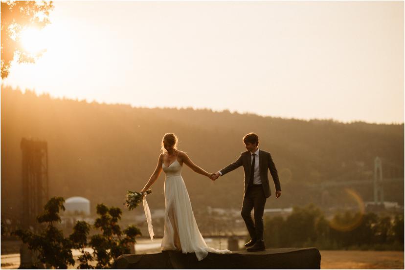 Victorian Belle Portland Wedding Photographer | Brianne and David