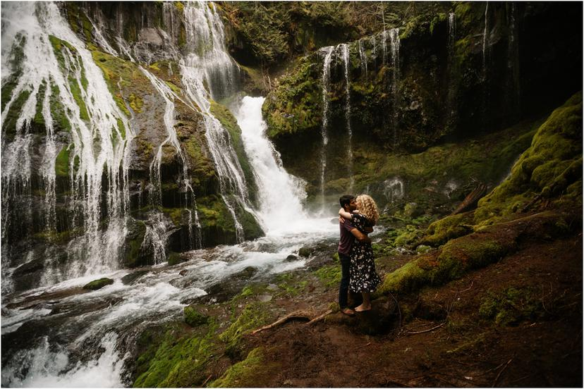 Panther Creek Falls Engagement Photos | Brittany and Nate