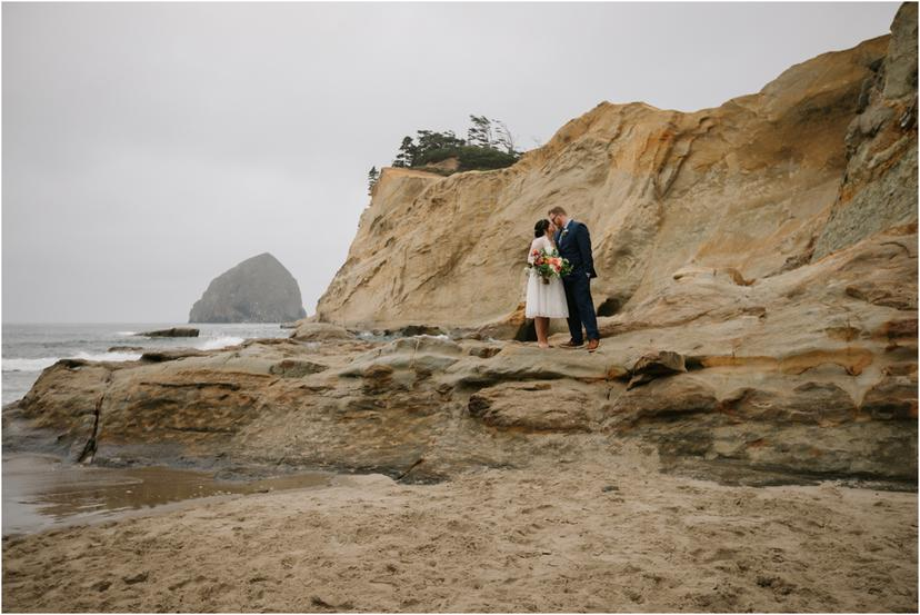 Oregon Coast Elopement at Cape Kiwanda | Adrienne and Tyler