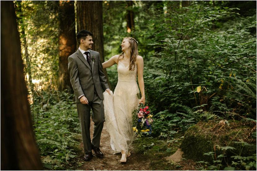 Leach Botanical Garden Wedding in Southeast Portland
