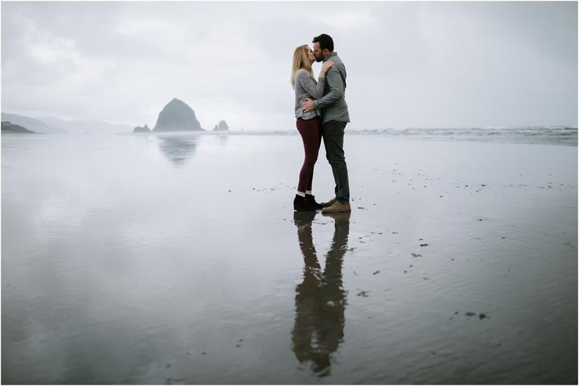 Cannon Beach Engagement Photos at Haystack Rock and Ecola State Park