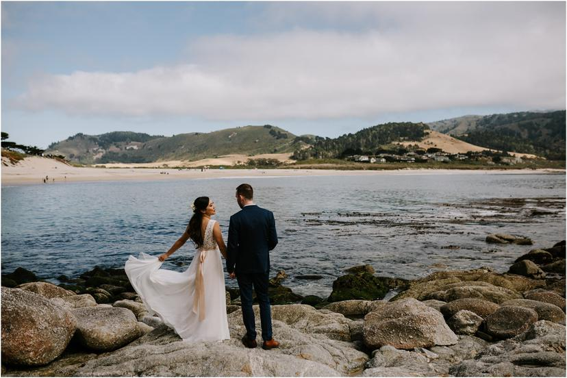 Intimate Beach Wedding in Carmel, California