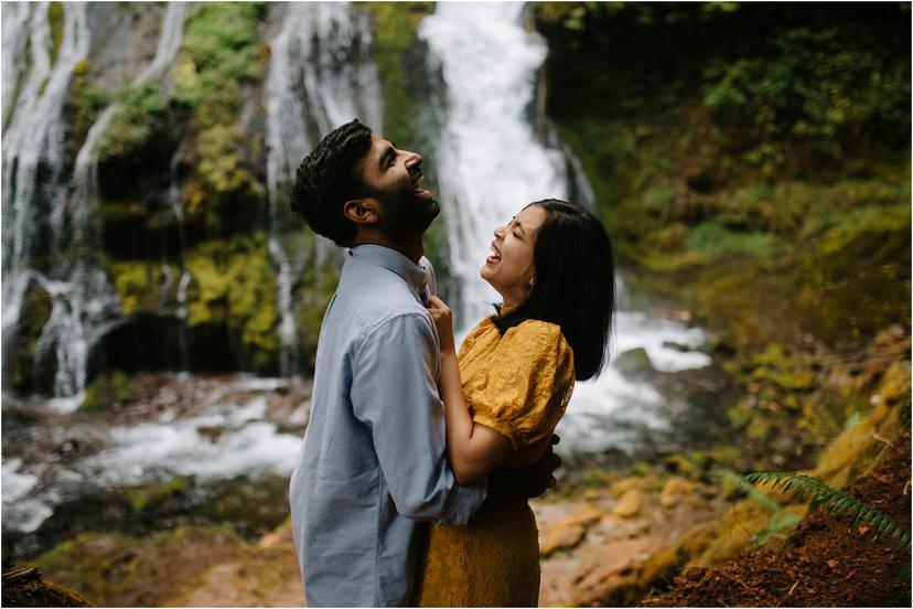 Engagement photos at Panther Creek Falls