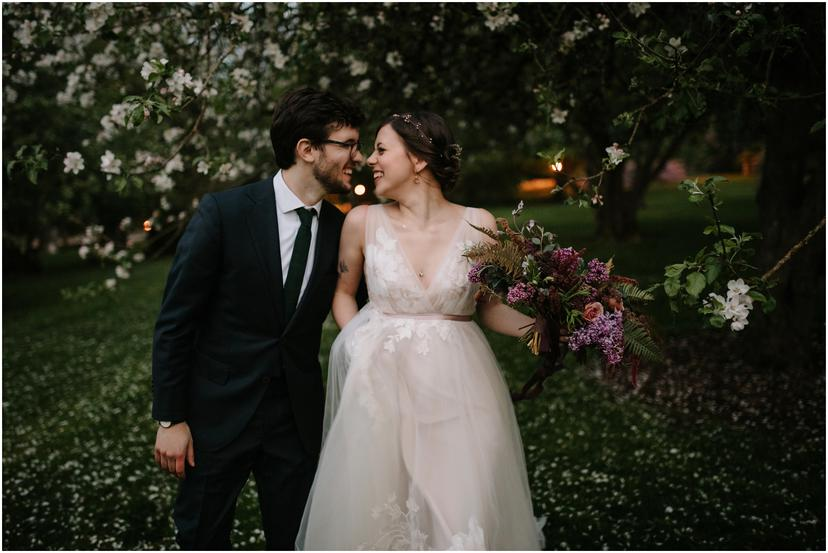 Romantic spring elopement in Salem