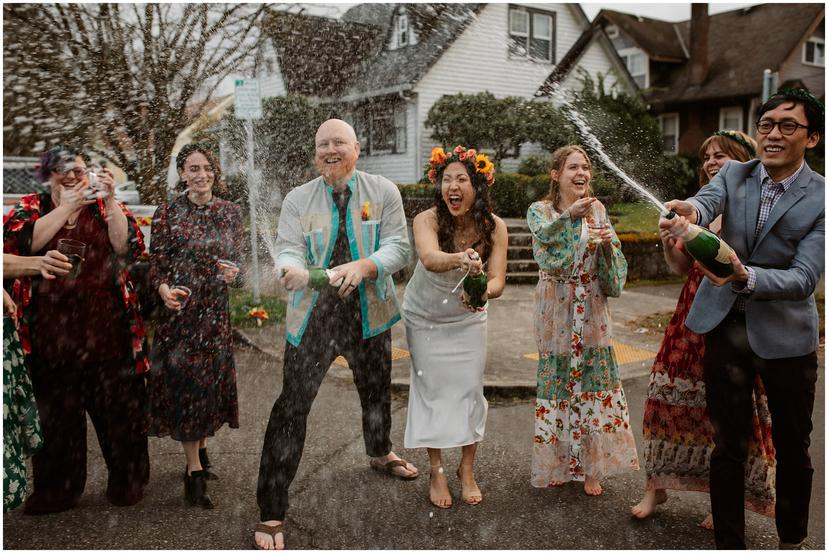 Intimate in-home Portland Elopement