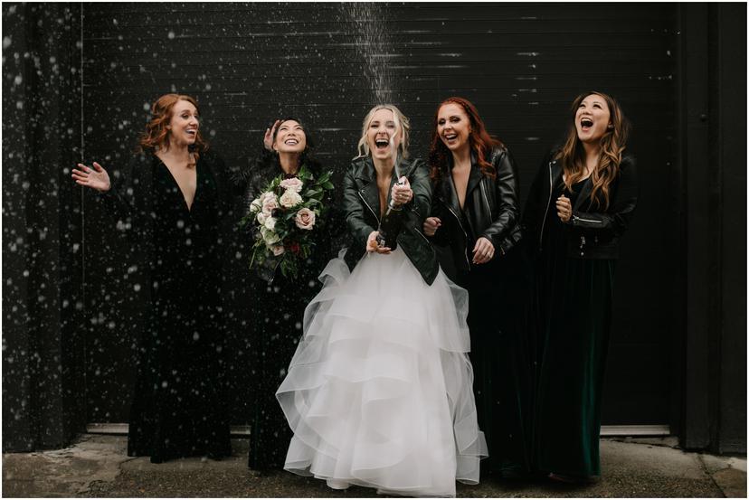 Winter Castaway Portland Wedding