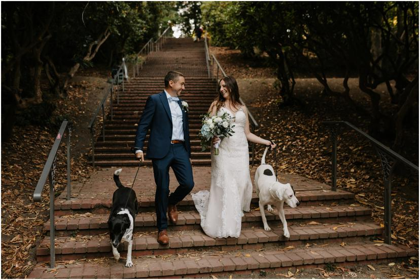 Laurelhurst Park Stairs Wedding